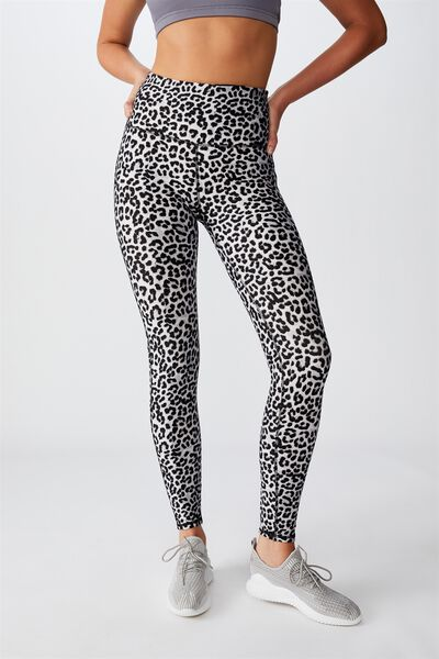 Fleece Lined Tight, WINTER LEOPARD
