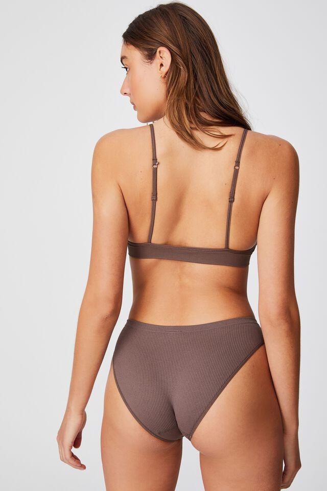 Seamless Bikini Brief, DEEP TAUPE