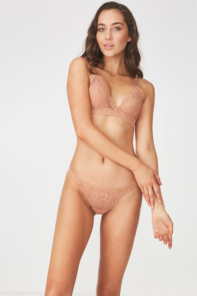 Candice Lace G-String, MAPLE