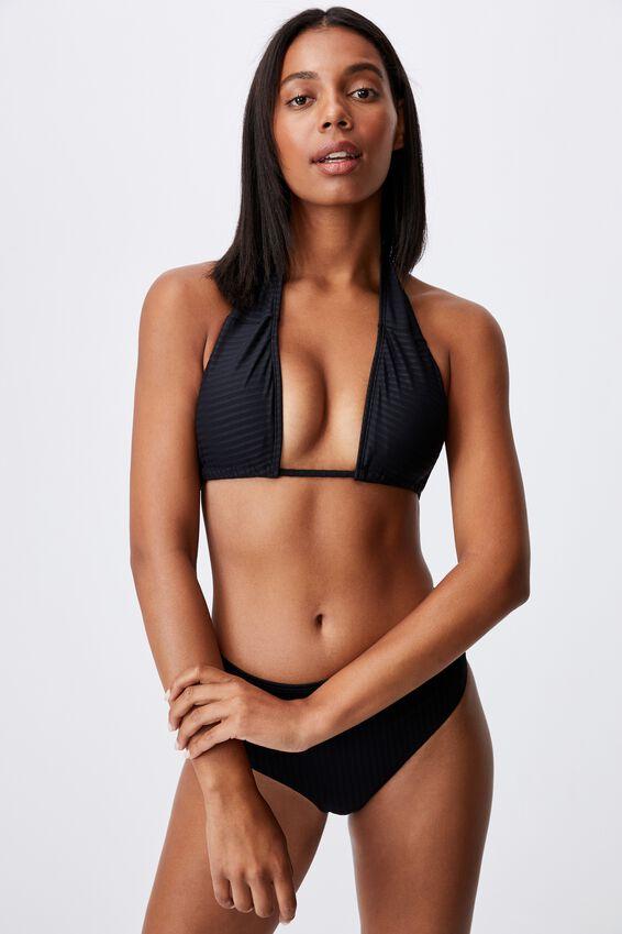 Floss Bikini Top Rib, BLACK RIB 21