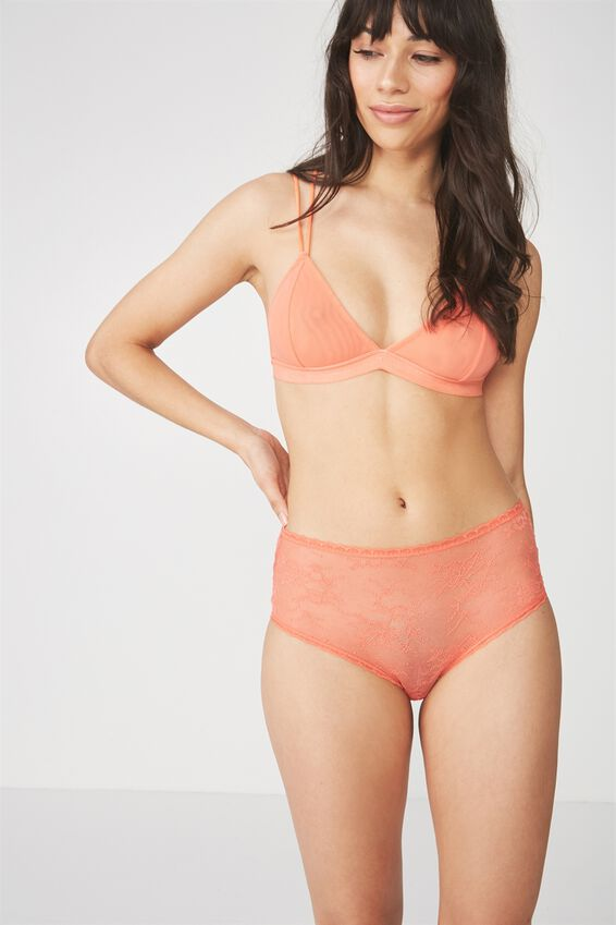 Sophia H/W Lace Boyleg Brief, MELON HEAVEN
