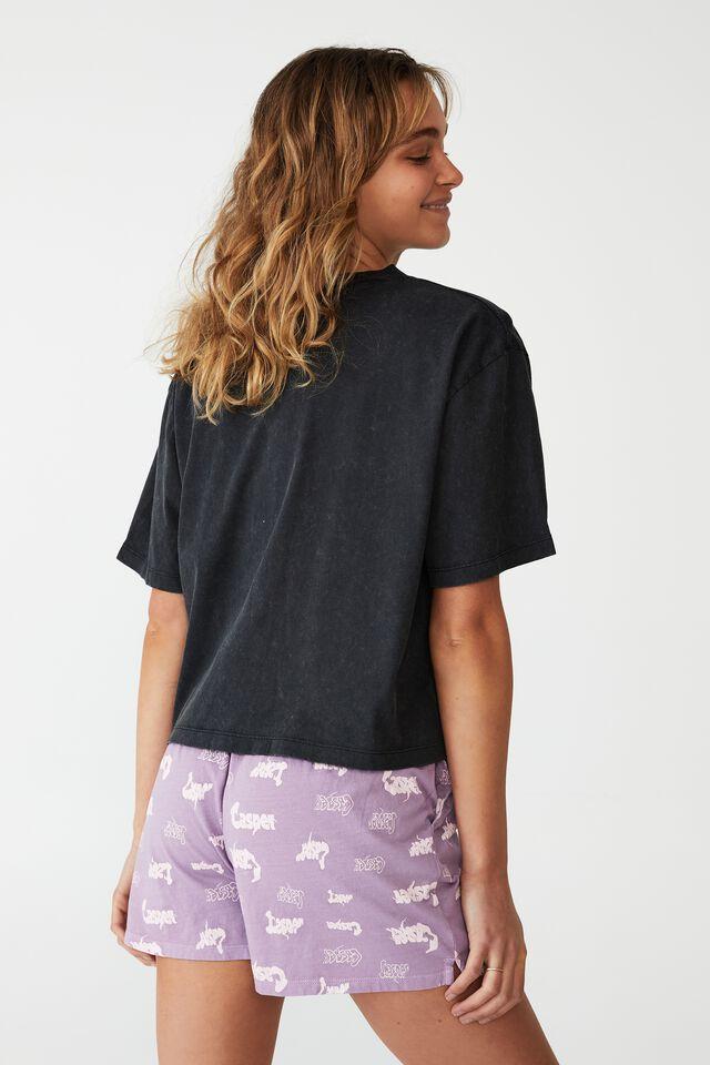 Jersey Chopped Baby T-Shirt, LCN UNI CASPER/BELIEVE WASHED BLACK