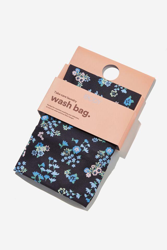 Delicates Wash Bag, GARDEN CLUSTER DITSY BLACK