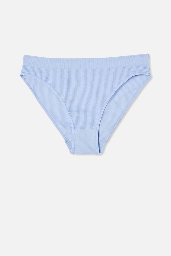 Seamfree High Cut Cheeky Bikini Brief, CORNFLOWER LILAC