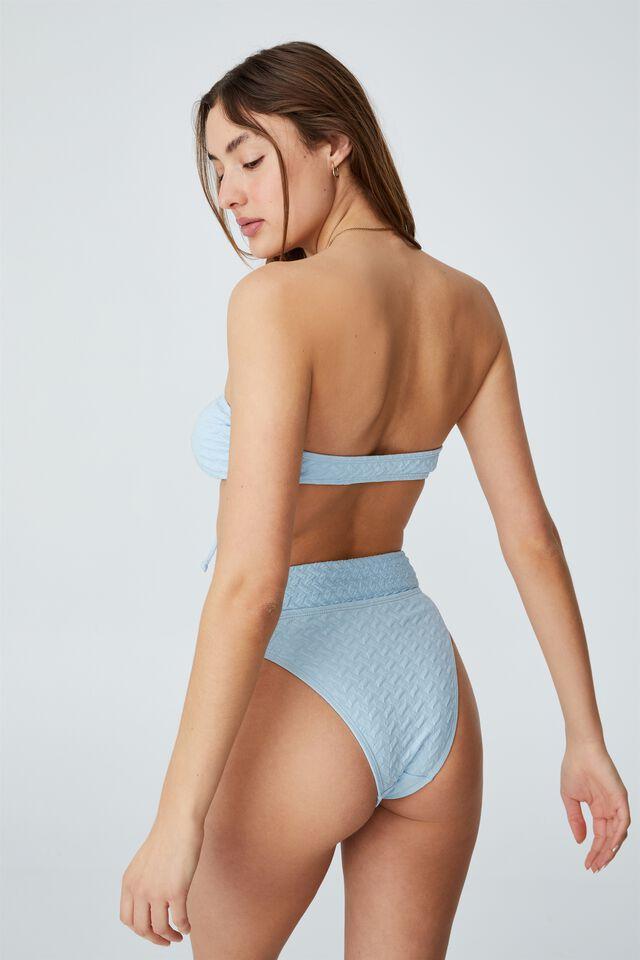Floss Bikini Top, SEA SALT BLUE WEAVE JACQUARD