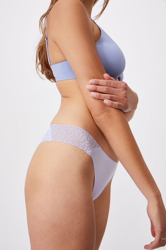Party Pants Seamless Brasiliano Brief, CHALKY LAVENDER
