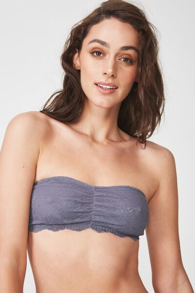 The Body Bandeau, SLATE GREY
