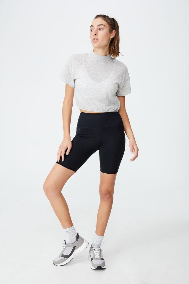 Lifestyle Mock Neck T-Shirt, GREY MARLE