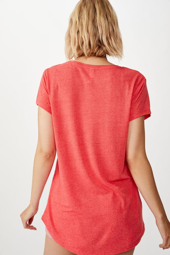 Dreamy Sleep T-Shirt, WASHED RED/ LOVE