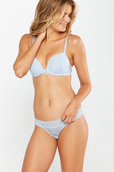 Sophia Lace G-String Brief, CHAMBRAY