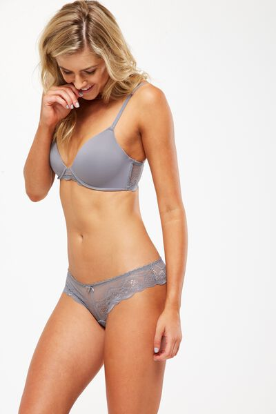 Ultimate Lace Comfort Bra, CONCRETE
