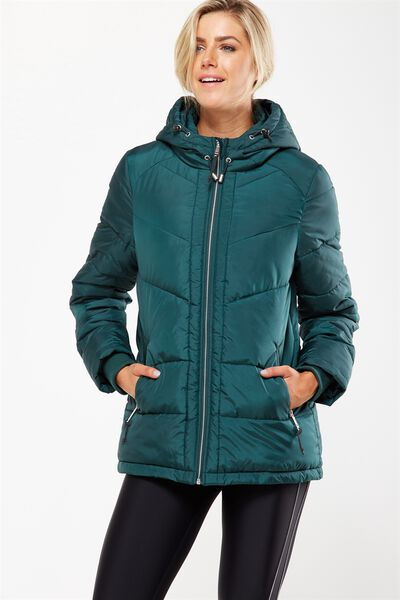 Active Puffer Jacket, HUNTER GREEN