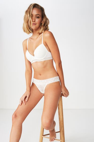 Sophia Lace G-String, CREAM