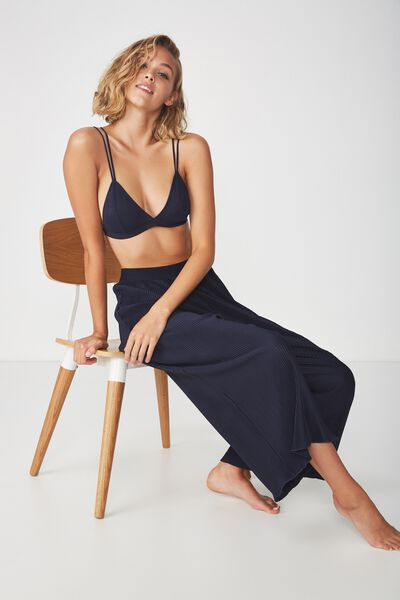 Woven Crinkle Culotte, NAVY BABY