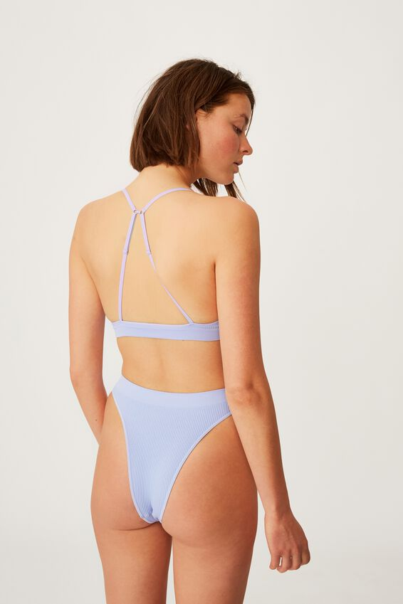 Seamfree Triangle Bralette, CORNFLOWER LILAC