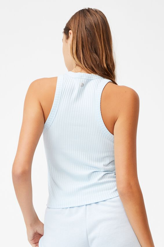 Lifestyle Racer Tank, BABY BLUE
