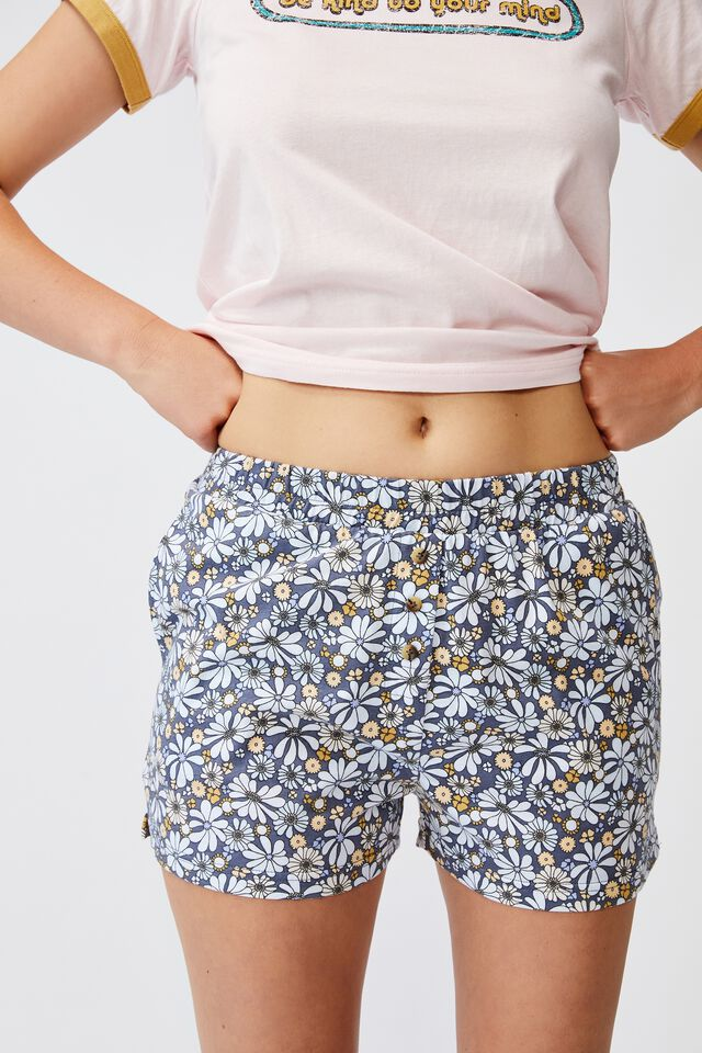Jersey Button Boxer Short, SOFTLY RETRO BLUES