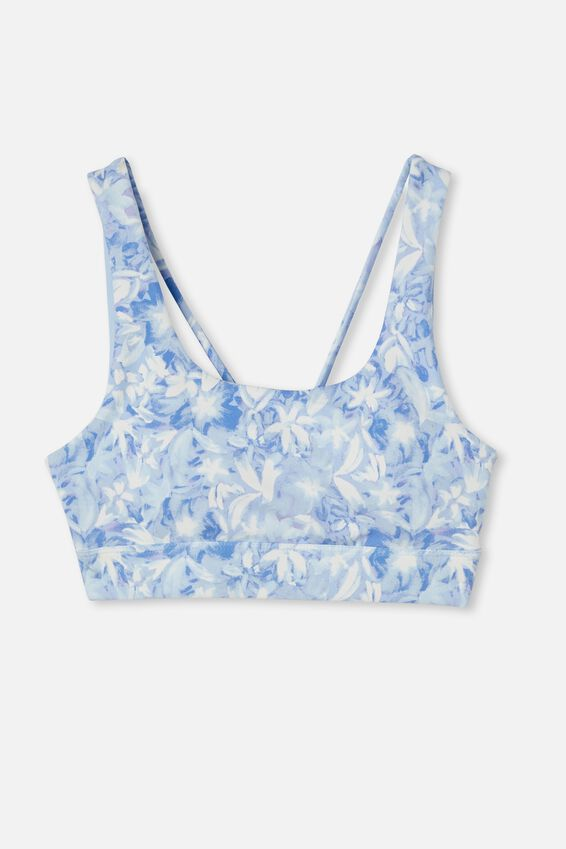 Cutout Back Crop, BRUSHED BOUQUET BABY BLUE