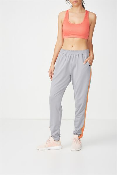 Striped Explorer Trackpant, GREY/SPICY MUSTARD