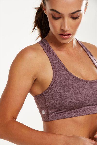 Workout Cardio Crop, THISTLE MAUVE MARLE