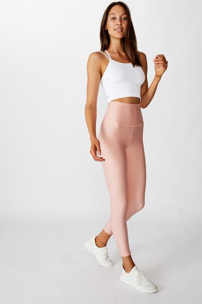 Reversible 7/8 Tight, DITSY TEXTURE OMBRE/PEONY PINK