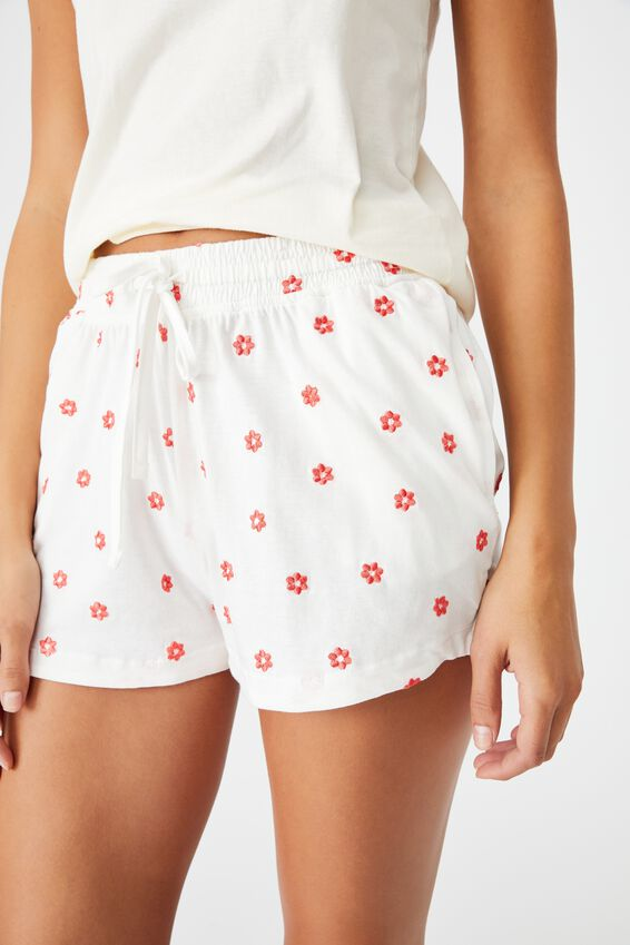 Jersey Sleep Short, RETRO DAISY/WHITE