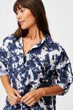 I-Do Shirt Nightie, NAVY TIE DYE