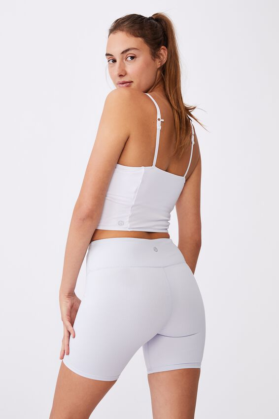 Strike A Pose Yoga Vestlette, WHITE