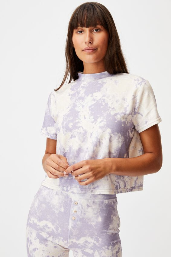 Super Soft Lounge T-Shirt, LILAC MARBLE TIE DYE