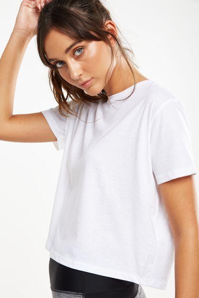 Boxy Tshirt, WHITE