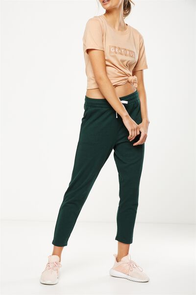 Tapered Leg 7/8 Trackpant, HUNTER GREEN