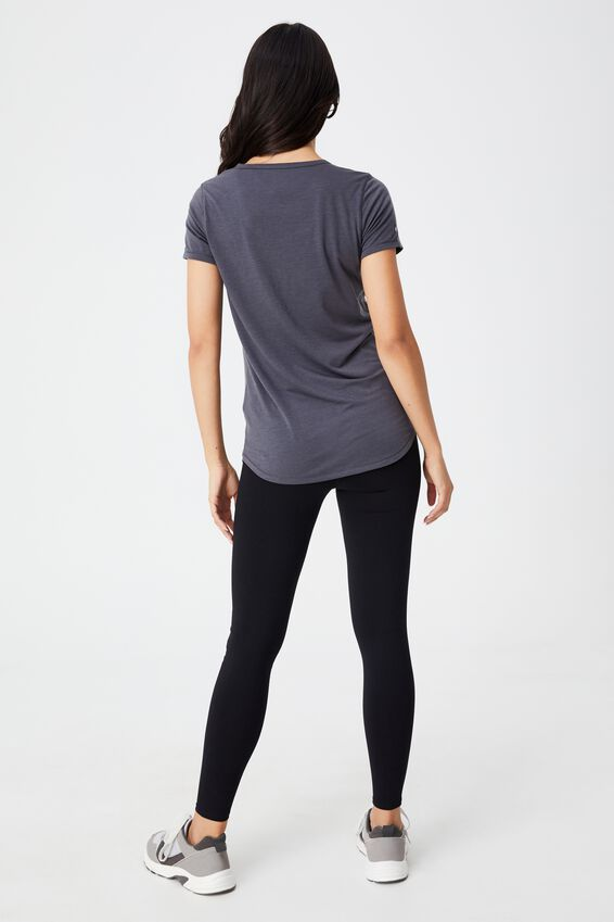 Maternity Gym T Shirt, PEWTER GREY