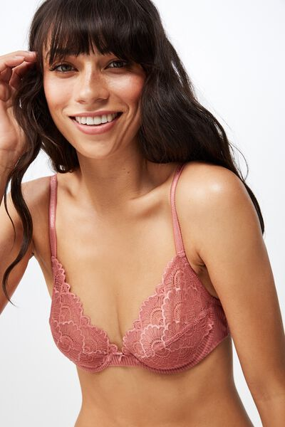 Abby Underwire Bra, ROSE TAN