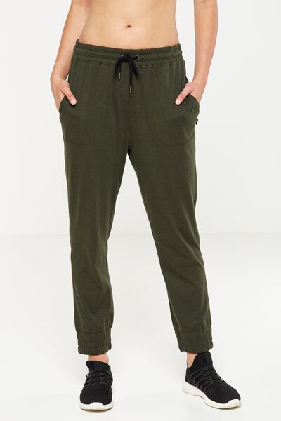 Lightweight Track Pant, EVERGREEN MARLE
