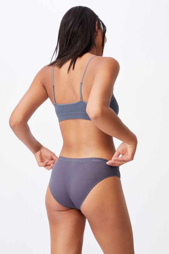 Cotton Bikini Brief, GUNMETAL