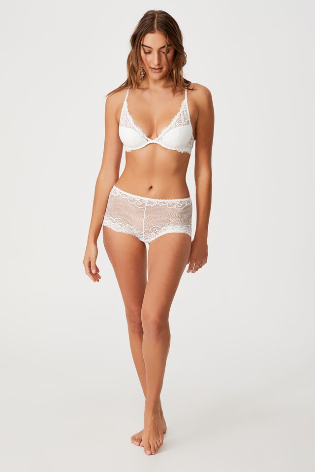 Ainsley Lace Shorty Brief, CREAM