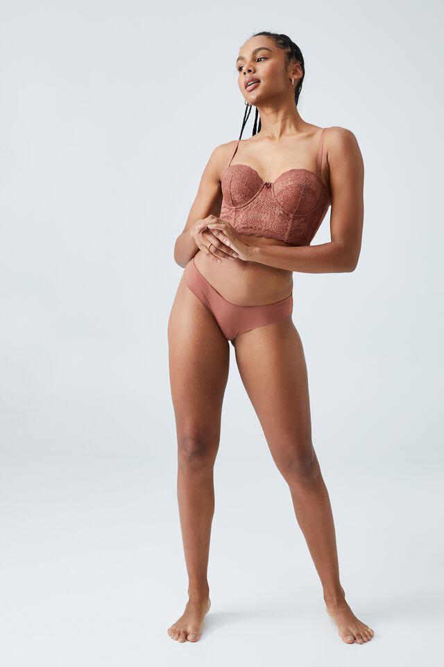 Ultimate Comfort Lace Bikini Brief, CAPPUCCINO