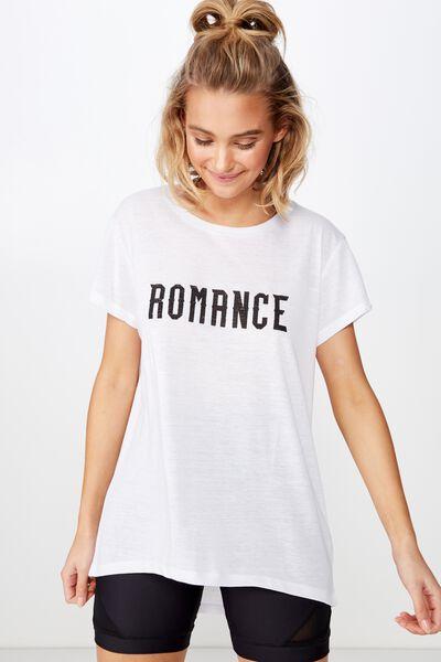 Classic Crew T-Shirt, WHITE/ ROMANCE