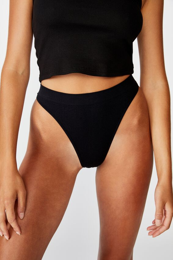 Seamless Hi Cut Brasiliano, BLACK