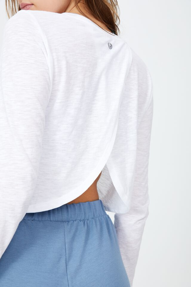Lifestyle Long Sleeve Top, WHITE