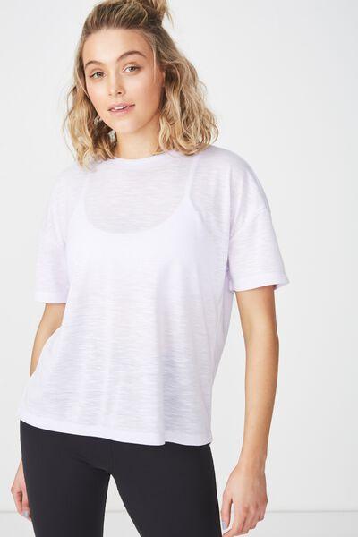 Boxy Slub T Shirt, ICY LILAC