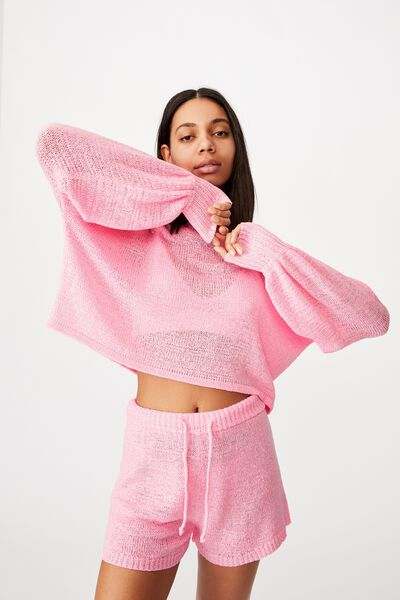 Summer Lounge Long Sleeve, STRAWBERRY