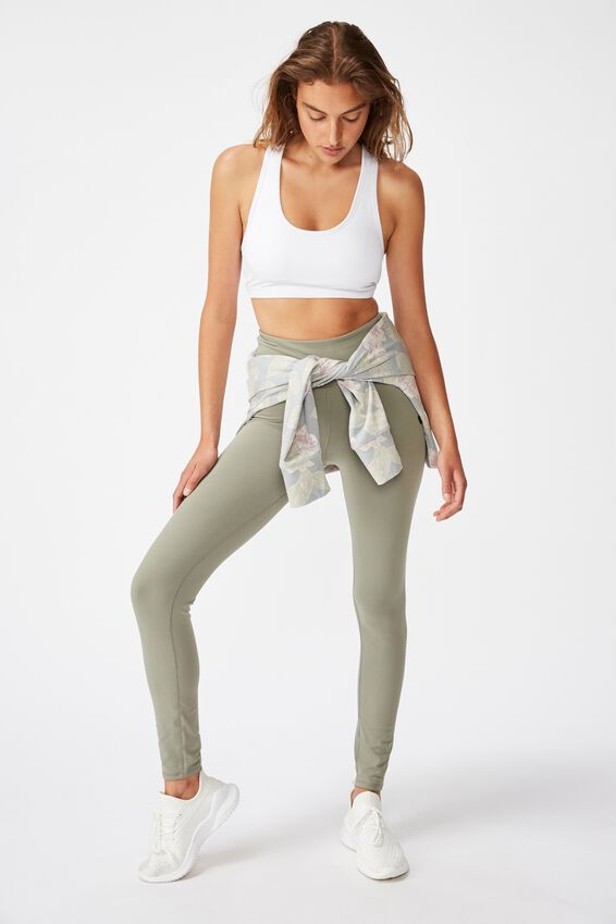 Active Core Full Length Tight, STEELY SHADOW