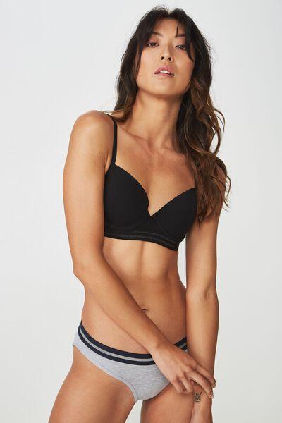 Sporty Femme Contour Bra, BLACK