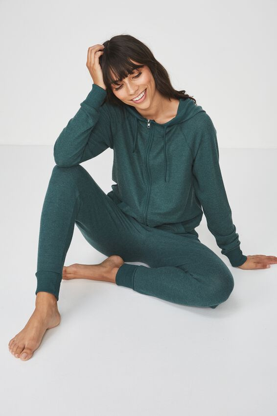 Super Soft Slim Fit Pant, WINTER GREEN MARLE