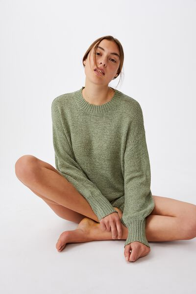 Summer Lounge Long Sleeve, KHAKI