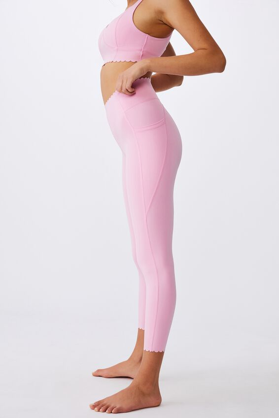 Scallop Hem 7/8 Tight, STRAWBERRY MILKSHAKE