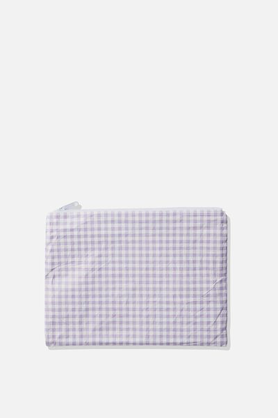 Summer Essentials Bikini Bag, LILAC GINGHAM