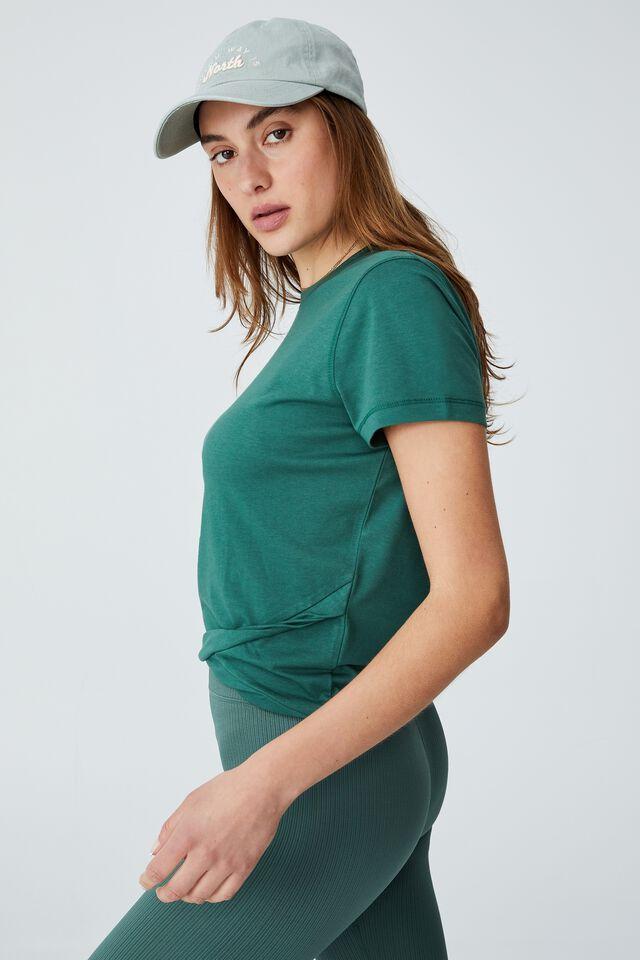 Active Cross Front Tshirt, VERDENT GREEN