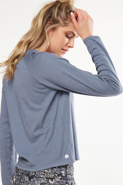 Back To School Long Sleeve Top, TITANIUM